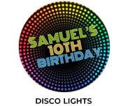 Disco Lights Theme Birthday Favours