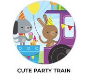Cute Party Train Theme Birthday Favours