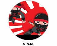 Ninja Personalised Birthday Favours