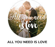 All You Need Is Love Wedding Theme Favours