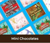 Mini Chocolates For Kids Birthday Parties
