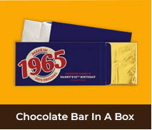 Personalised Birthday Chocolate Bar Boxes