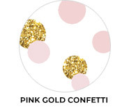 Confetti In Pink And Gold Birthday Party Favours
