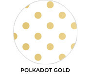 Gold Polkadots Birthday Party Favours