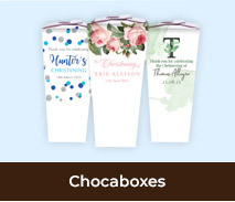 Personalised Christening Chocabox Favour Boxes