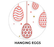 Hanging Eggs Personalised Easter Chocolate Theme