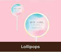 Personalised Lollipops For Gender Reveal Parties