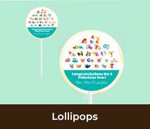 School Personalised Lollipops