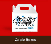 Personalised Gable Boxes For Valentines Day