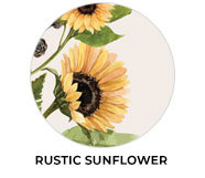 Rustic Sunflower Wedding Theme Favours