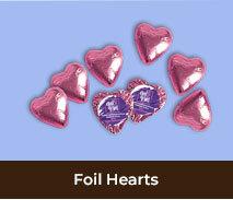 International Womens Day Chocolate Hearts