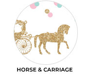 Horse And Carriage Confetti Birthday Favours
