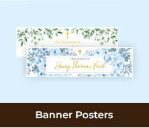 Christening And Baptism Personalised Banners