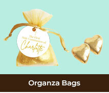 Organza Bags And Choc Hearts For Confirmations
