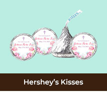 Personalised Hersheys Kisses For Confirmations