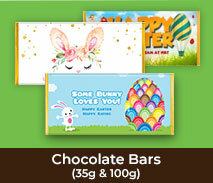 Easter Chocolate Bars (35g & 100g)