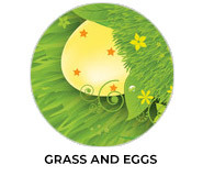 Grass And Eggs Personalised Easter Chocolate