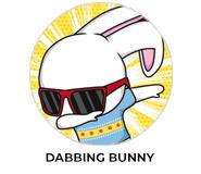 Dabbing Bunny Personalised Easter Chocolates