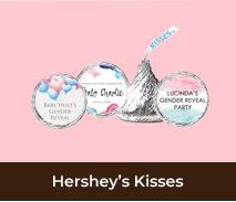 Custom Hersheys Kisses For Gender Reveals