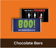 Personalised Halloween Chocolate Bars