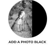 Add A Photo - Black Wedding Theme Favours