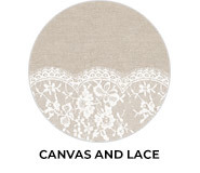 Canvas And Lace Theme Wedding Favours