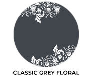Classic Grey Floral Wedding Theme Favours