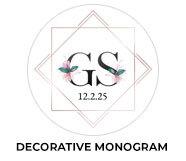 Decorative Monogram Wedding Theme Favours