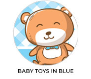 Baby Toys In Blue Custom Baby Shower Favours