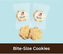 Birth Announcement Bite Size Cookies