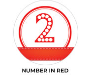 Numbers In Red Custom Birthday Party Favours