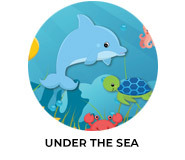 Under The Sea Birthday Custom Party Favours