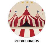 Retro Circus Theme Personalised Birthday Favours