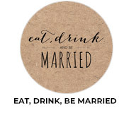 Eat, Drink, Be Married Theme Wedding Favours