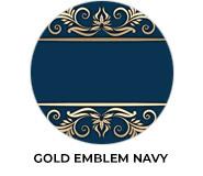 Gold Emblem Navy Wedding Favours