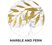 Marble And Fern Theme Wedding Favours