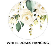 White Roses Hanging Wedding Favours