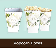 Personalised Popcorn Boxes For Weddings