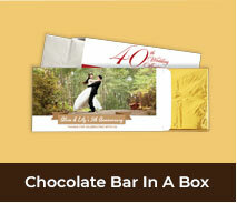 Personalised Anniversary Chocolate Bar Boxes