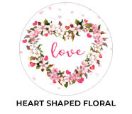 Heart Shaped Floral Wedding Theme Favours