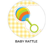 Baby Rattle Custom Baby Shower Favours