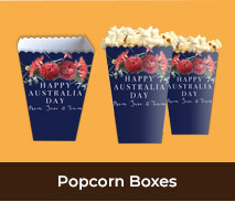Personalised Popcorn Boxes For Australia Day