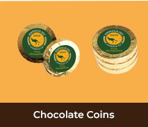 Australia Day Personalised Gold Chocolate Coins