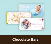 Personalised Birth Announcement Chocolate Bars