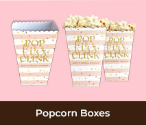 Personalised Popcorn Boxes For Bridal Showers