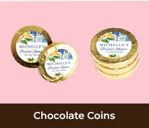 Bridal Shower Personalised Chocolate Coins