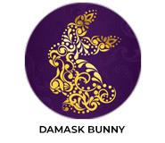Damask Bunny Personalised Easter Chocolates