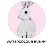 Watercolour Bunny Personalised Easter Chocolates