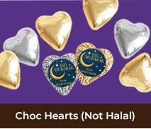 Personalised Foil Chocolate Hearts For Eid