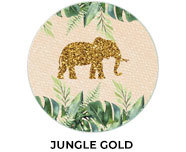 Jungle Gold Birthday Party Favours